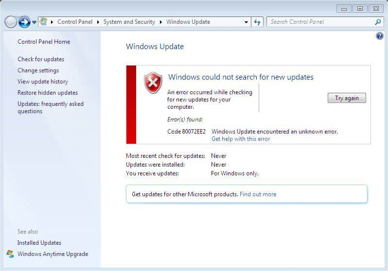 Fix windows update error 80072ee2 (step by step) driver easy.