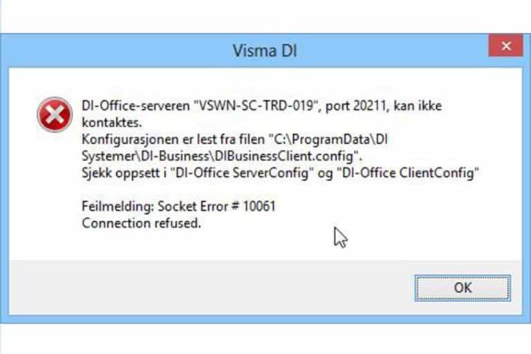 Socket Error 10061: Reason and Solution