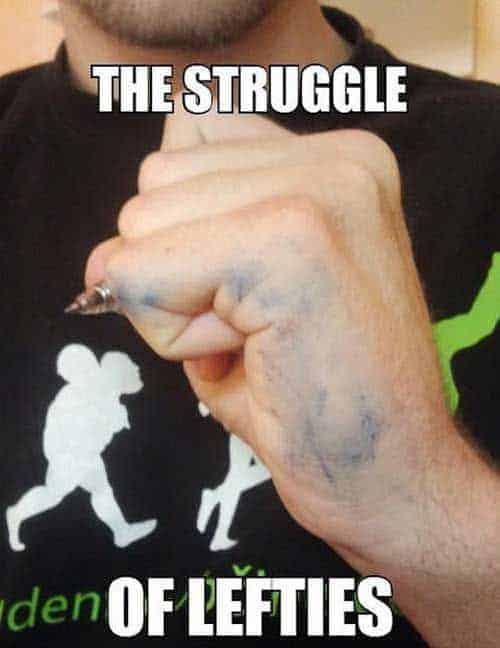left handedness myths