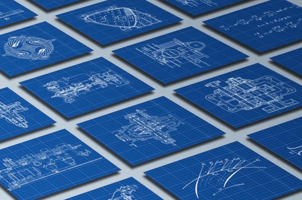 blueprint technical drawing