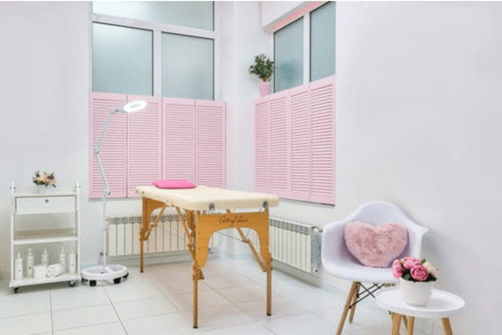 pink shutters relax room