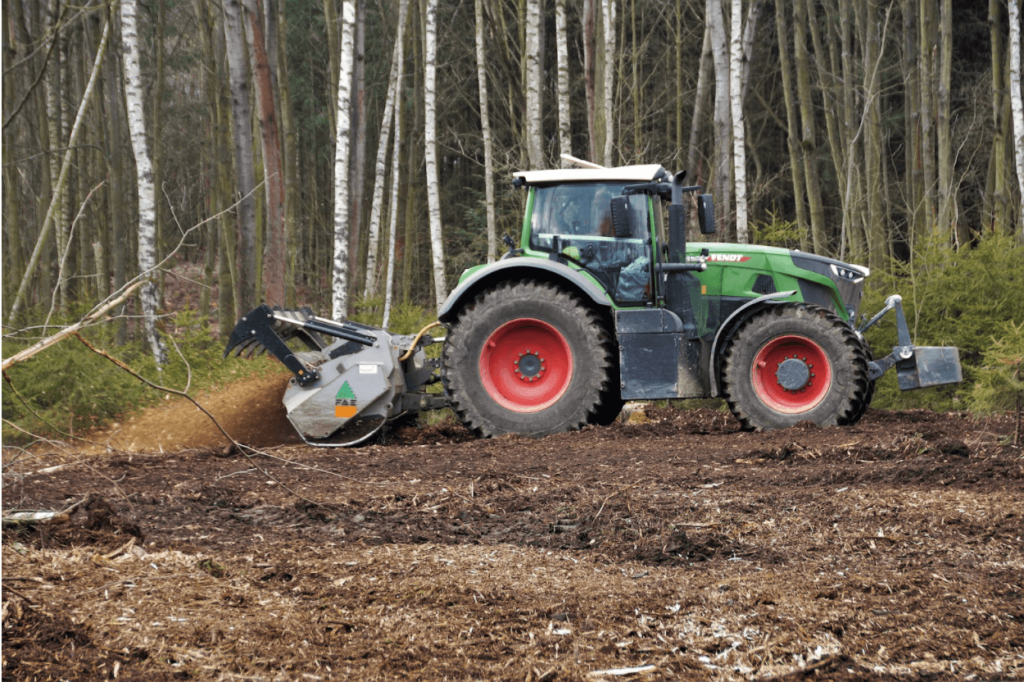 tractor forest
