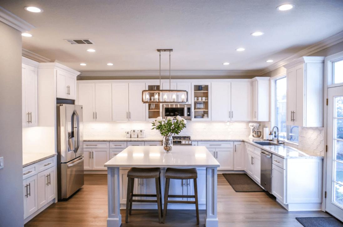 white wooden kitchen
