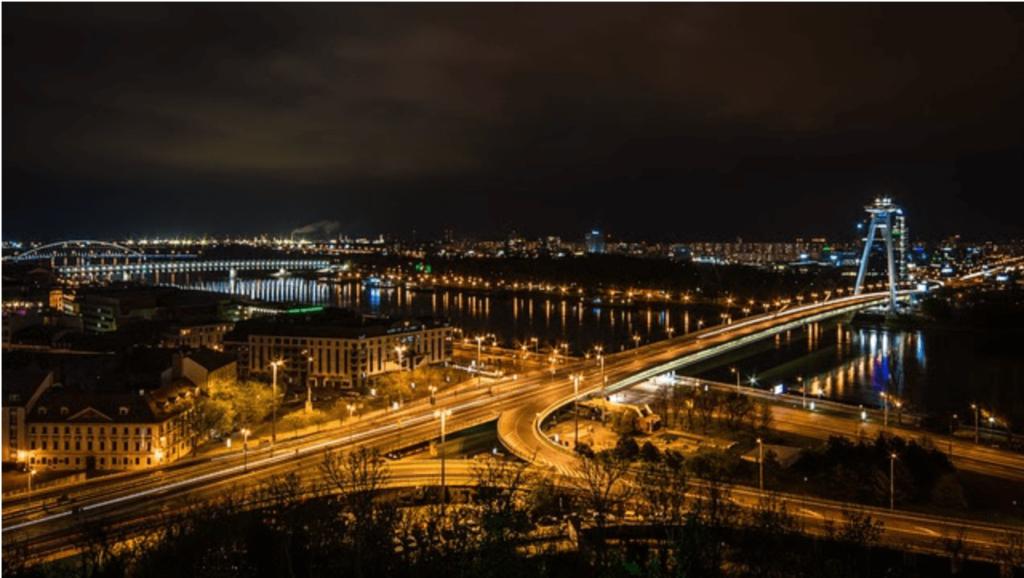 bratislava in the evening