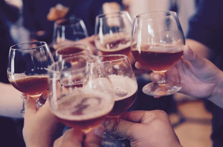 toasting cheers