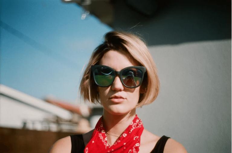 woman with bandana